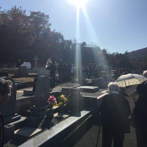 慰霊祭と納骨式を行ってまいりました。